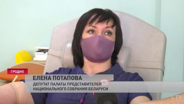 Накануне Всемирного дня донора депутат Палаты представителей Елена Потапова безвозмездно сдала кровь