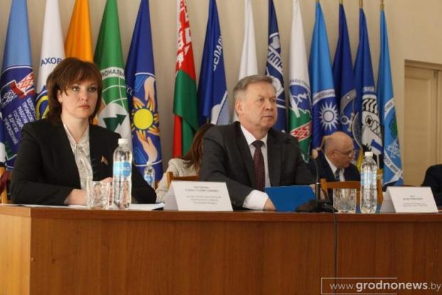 Елена Потапова приняла участие в пленуме Гродненского областного объединения профсоюзов